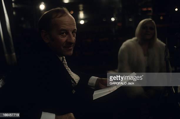 Alain Bernardin In His Cabaret The Crazy Horse Saloon Paris janvier 1973 Au cabaret le 'Crazy Horse Saloon' portrait du directeur Alain BERNARDIN...