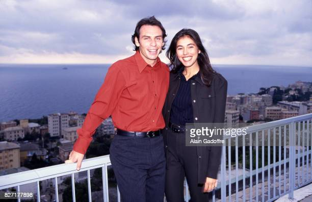 Alain Boghossian of Sampdoria and his wife during a photoshoot on October 20 1997 in Genes Italia