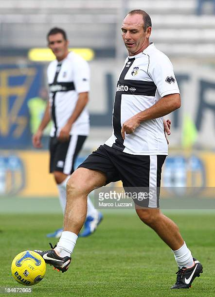 Alain Boghossian of Stelle Crociate in action during the 100 Years Anniversary match between Stelle Crociate and US Stelle Gialloblu at Stadio Ennio...
