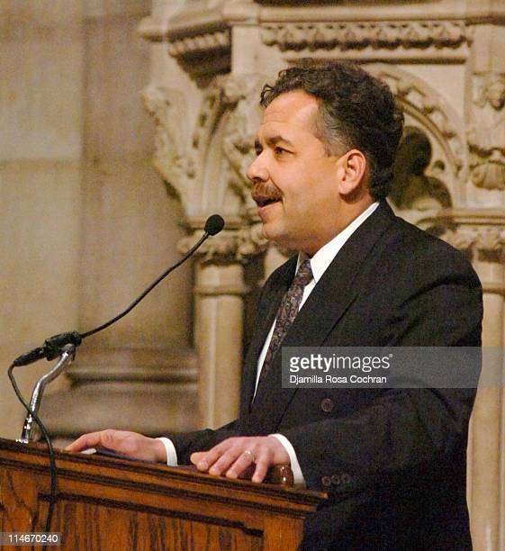 Alain Brouillaud at Riverside Church during the funeral service for Photographer Gordon Parks on March 14 2006 in New York City