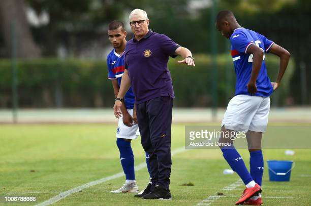Alain Casanova Coach of Toulouse during the friendly match between Nimes and Toulouse at Stade des Costieres on July 28 2018 in Nimes France