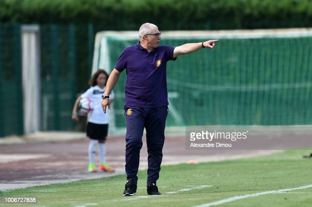 Alain Casanova new Coach of Toulouse during the friendly match between Nimes and Toulouse at Stade des Costieres on July 28 2018 in Nimes France