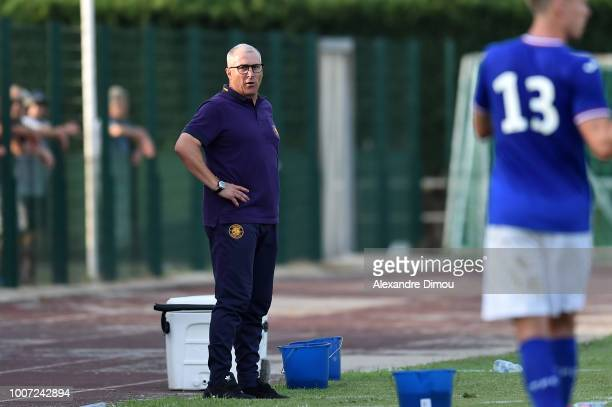 Alain Casanova new head Coach of Toulouse during the friendly match between Nimes and Toulouse at Stade des Costieres on July 28 2018 in Nimes France
