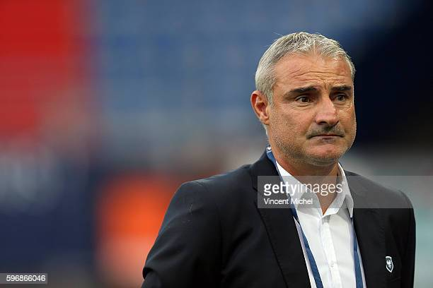 Alain Caveglia of Caen during the French Ligue 1 match between SM Caen an Bastia at Stade Michel D'Ornano on August 27, 2016 in Caen, France.
