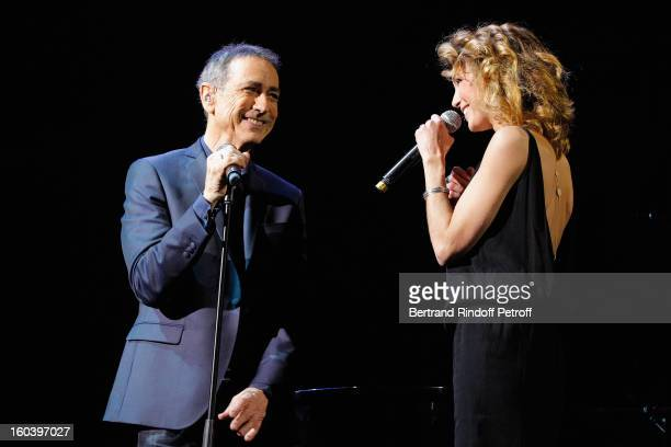 Alain Chamfort and Claire Keim perform at Le Grand Rex on January 30 2013 in Paris France