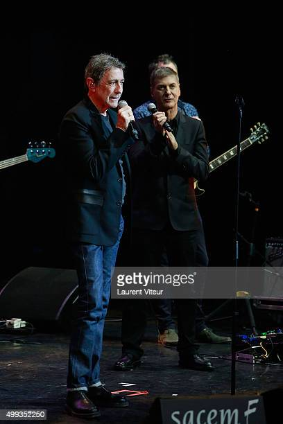 Alain Chamfort and Etienne Daho attend 'Prix De La SACEM 2015' at Folies Bergeres on November 30 2015 in Paris France