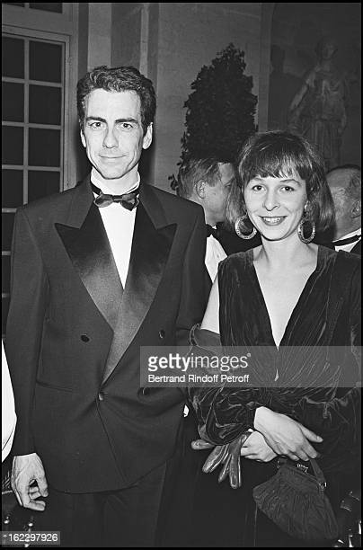 Alain Chamfort and his girlfriend at a party in Versailles