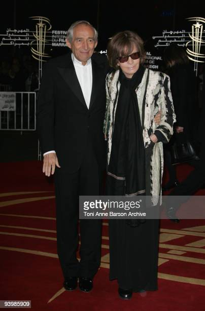 Alain Corneau and Nadine Trintignant attend the John Rabe premiere at the 9th Marrakesh Film Festival at the Palais des Congres on December 4 2009 in...