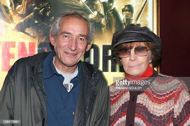 Alain Corneau and Nadine Trintignant in Paris France on October 20th 2005