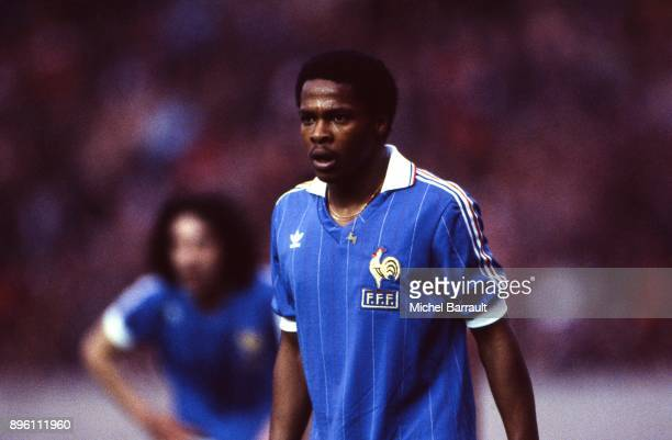 Alain Couriol of France during the International Friendly match between France and Peru at Parc des Princes in Paris on April 28th 1982
