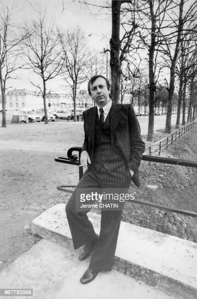 Alain de Benoist philosophe et politologue français à Vincennes le 29 novembre 1981 France