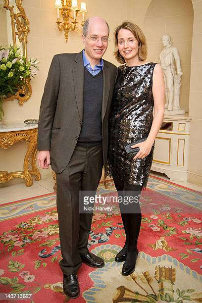 Alain de Botton and Charlotte de Botton attend the Tatler Jubilee party at The Ritz on May 2 2012 in London England