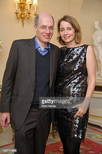 Alain de Botton and Charlotte de Botton attend the Tatler Jubilee party with Thomas Pink at The Ritz on May 2 2012 in London England