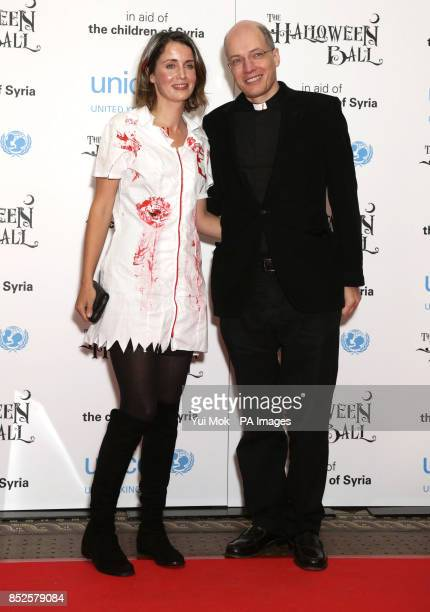 Alain de Botton and his wife Charlotte attending the UNICEF UK Halloween Ball to raise funds to help Syrian children at One Mayfair in central London