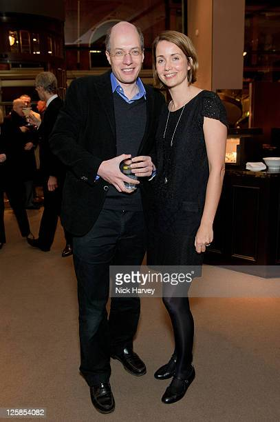 Alain de Botton and his wife Charlotte de Botton attend book launch party for Simon Sebag Montefiore's latest book 'Jerusalem the Biography a fresh...