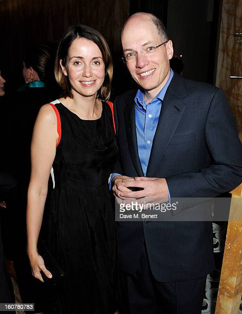 Alain de Botton and wife Charlotte attend a reception hosted by Sir David Chipperfield to celebrate the awarding of the RIBA Royal Gold Medal to...