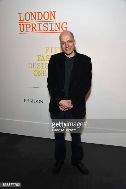 Alain de Botton attends the launch of new book 'London Uprising Fifty Fashion Designers One City' by Tania Fares and Sarah Mower at Sotheby's on...
