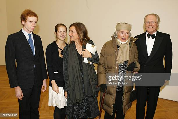 Alain de Rothschild her son Eric de Rothschild his wife Beatrice and their children attend the 2005 Scopus Awards gala at the Petit Palais avenue...