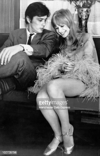 Alain Delan and Marianne Faithfull
