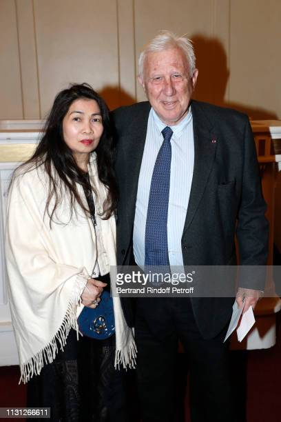 Alain Deloche and his wife attend the Fondation Prince Albert II De Monaco Evening at Salle Gaveau on February 21 2019 in Paris France