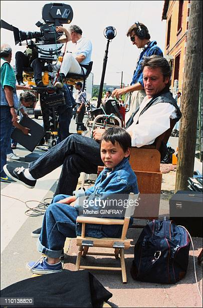 Alain Delon Alain Musy at the film The way in France on September 1 1986