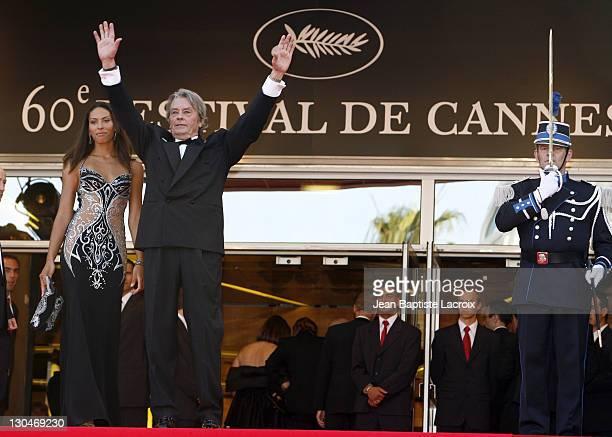 Alain Delon and Bianca di Sofia during 2007 Cannes Film Festival 'Chacun Son Cinema' All Directors Premiere at Palais des Festival in Cannes France