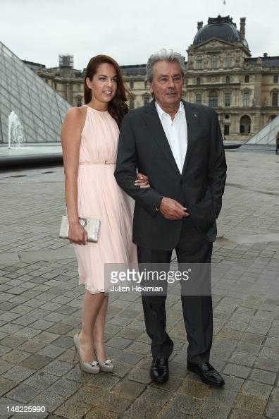 Alain Delon and his da...