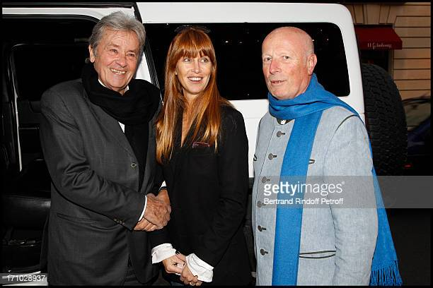Alain Delon and his stepdaughter Sophie Clerico Delon Baron Francois Xavier of Sambucy of Sorgues at Exhibition Opening Of The Collection Nicolas...