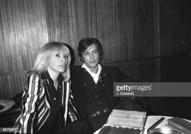 Alain Delon and Mireille Darc. About 1980. JAC-10547-034A.