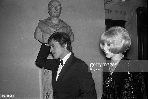 Alain Delon and Mireille Darc. Paris, 1964. HA-1587-33.
