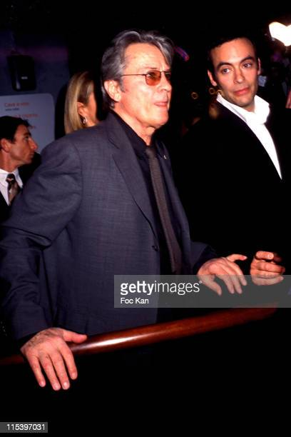 Alain Delon and son Anthony Delon during Publicis Drugstore Opening at Publicis Store Champs Elysees in Paris France