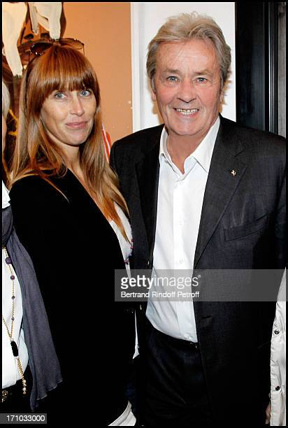 Alain Delon and Sophie Clerico Delon at Exhibition Opening Of The Collection Nicolas Laugero Lasserre At Gallery Galerie Caplain Matignon In Paris