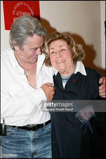 Alain Delon and Suzy Delair who performed in the play Rocco and his brothers in 1961 Alain Delon in the play Sur La Route De Madison at the Marigny...