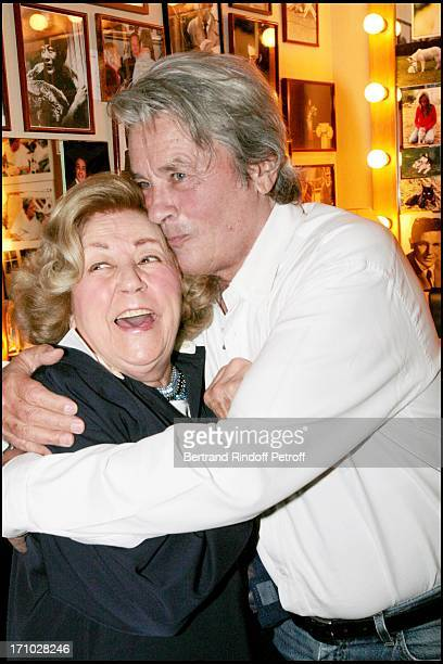 """Alain Delon and Suzy Delair who performed in the play """"Rocco and his brothers"""" in 1961. Alain Delon in the play """"Sur La Route De Madison"""" at the..."""