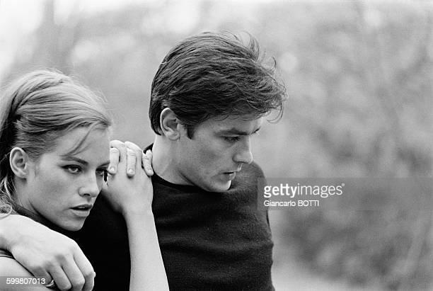 Alain Delon And Wife Nathalie Delon In France Circa 1960