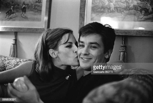 Alain Delon And Wife Nathalie Delon In France In 1965