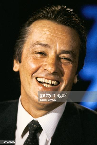 Alain Delon at 7 sur 7 show On October 30 1988 invited by Anne Sinclair