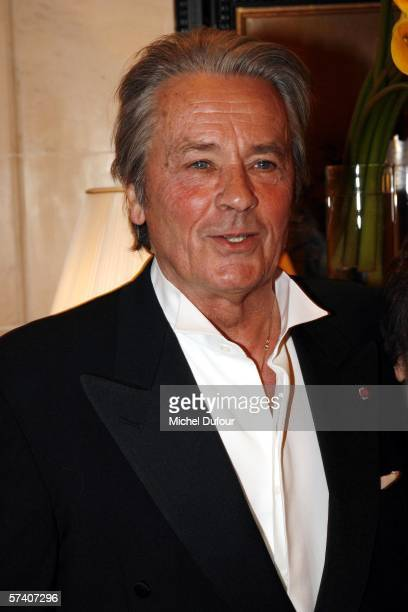 Alain Delon attends the April in Paris the Gala benefit for the IRME association to raise money for research in spinal cord diseases at the Georges V...