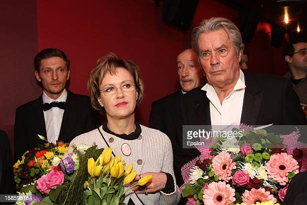 Alain Delon attends the 'Happy New Year Moms' film premiere at Oktyabr Cinema on December 19 2012 in Moscow Russia