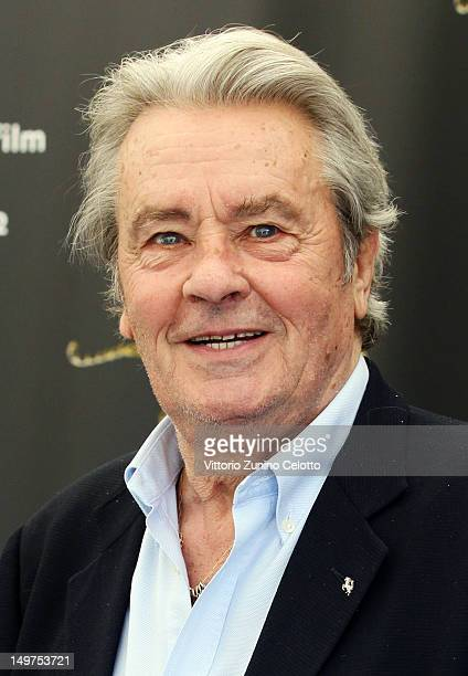 Alain Delon attends the Life Achievement Award photocall during the 65th Locarno Film Festival on August 3 2012 in Locarno Switzerland