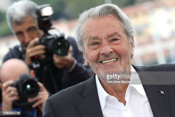 Alain Delon attends the Rendez-Vous with Alain Delon Photocall during the 72nd annual Cannes Film Festival on May 19, 2019 in Cannes, France.