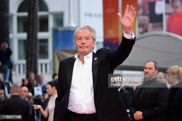 "Alain Delon attends the screening of ""A Hidden Life "" during the 72nd annual Cannes Film Festival on May 19, 2019 in Cannes, France."