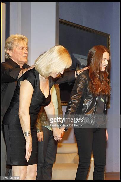 Alain Delon, daughter Anouchka Delon, Elisa Servier at The Theatre Production Of Une Journee Ordinaire At The Theatre Des Bouffes Parisiens.