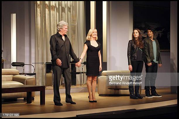 Alain Delon daughter Anouchka Delon Elisa Servier Christophe De Choisy at The Theatre Production Of Une Journee Ordinaire At The Theatre Des Bouffes...