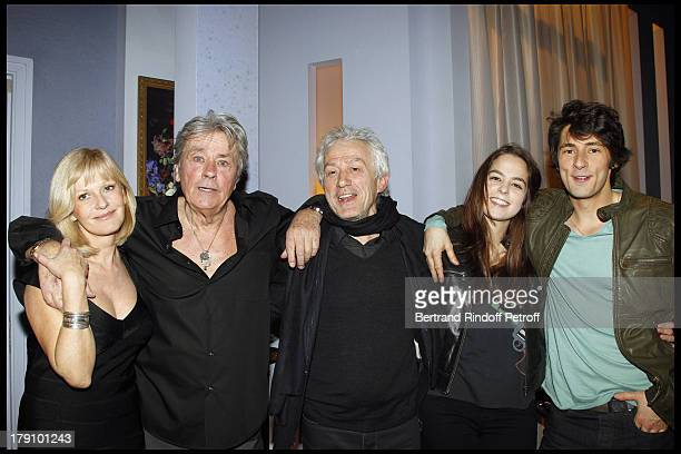 Alain Delon daughter Anouchka Delon Elisa Servier Christophe De Choisy with Jean Luc Moreau at The Theatre Production Of Une Journee Ordinaire At The...