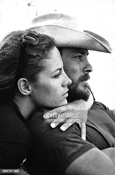 Alain Delon et Nathalie Delon en France circa 1960