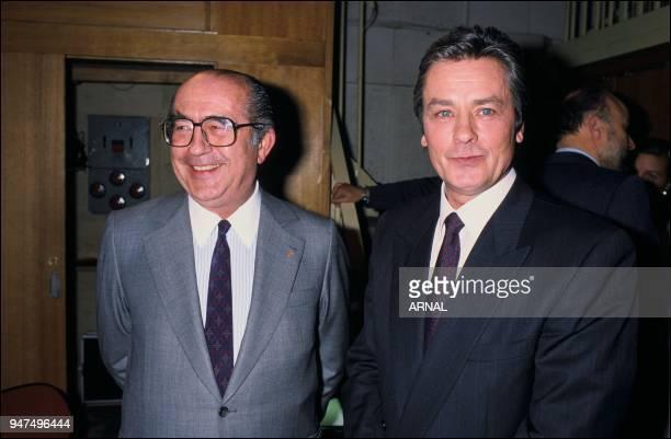 Alain Delon Francis Bouygues 1988