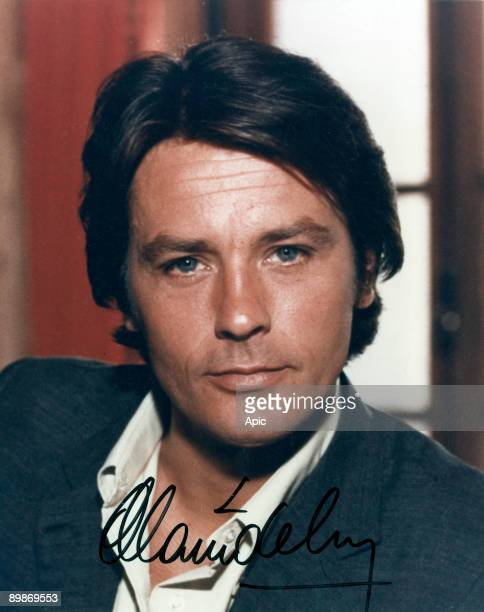 Alain Delon, french actor, photo with autograph c. 1977