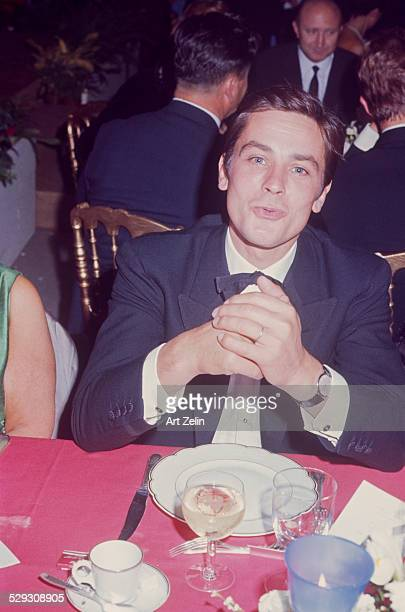 Alain Delon in Paris at a formal event circa 1970 New York