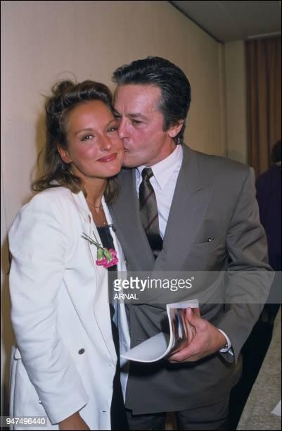 Alain Delon Ingrid Held premiere 'Cinema' 1988